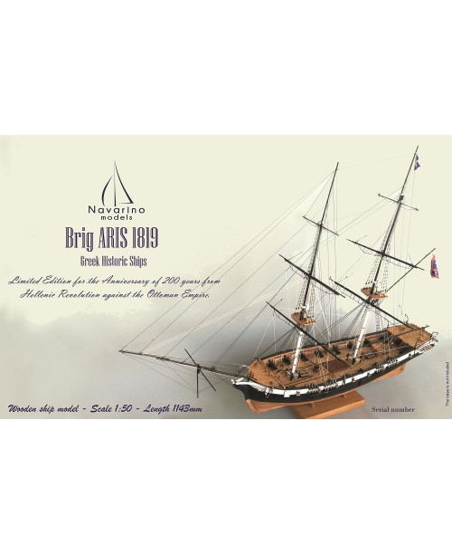 "Brig ""ARIS"" 1819, scale 1/50 - Lenght 1143mm"