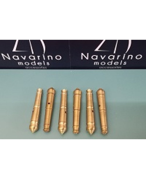 Cannons 40mm, brass