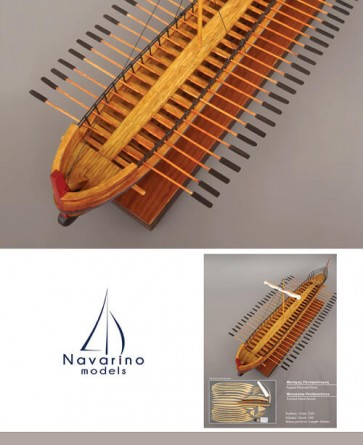 Ancient Greek Ships - Monoreme Pentikontoros ,  Scale 1/50 - Length 550mm